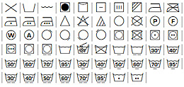 Washing and care symbols